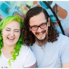 colorful hipster richmond engagement photography