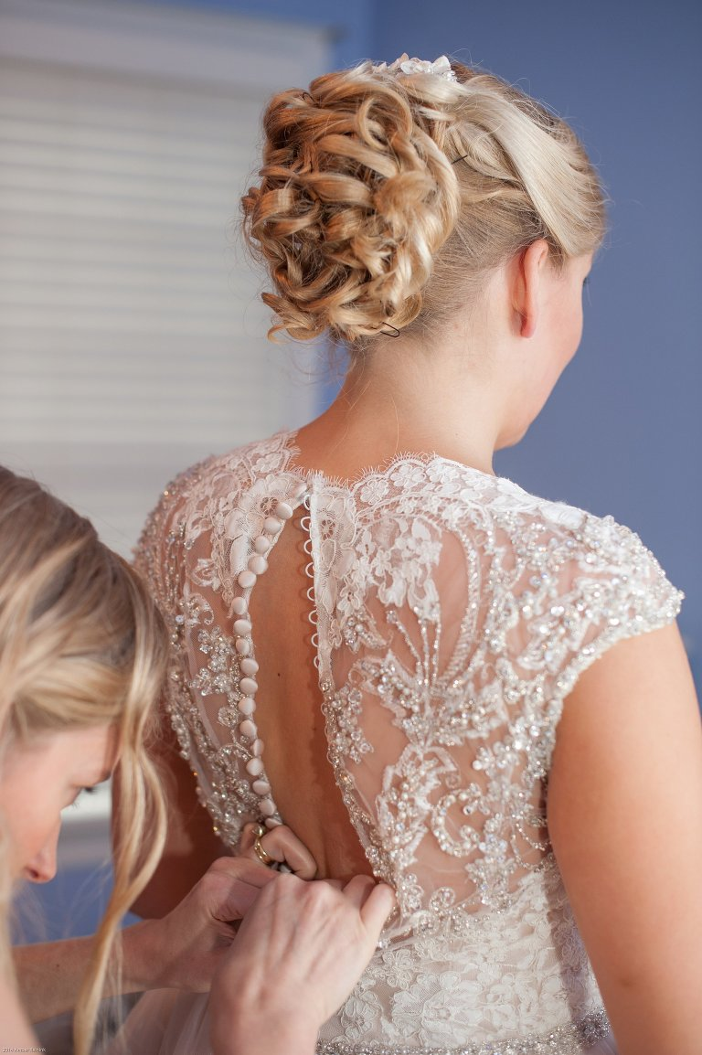 blush wedding gown with lace back richmond va wedding pictures