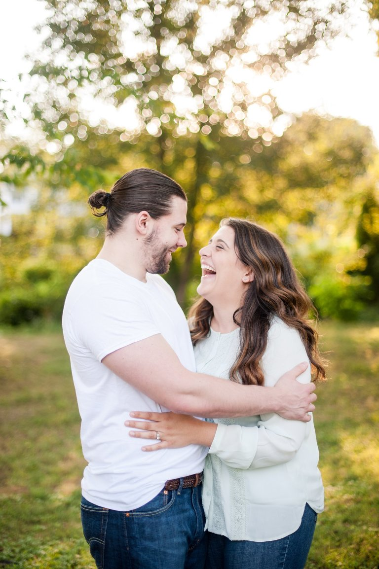 Engagement session at sunset Richmond Virginia