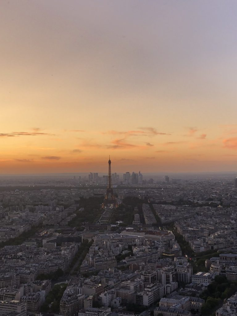 5 days in paris france detailed itinerary sunset view of paris from montparnasse tower